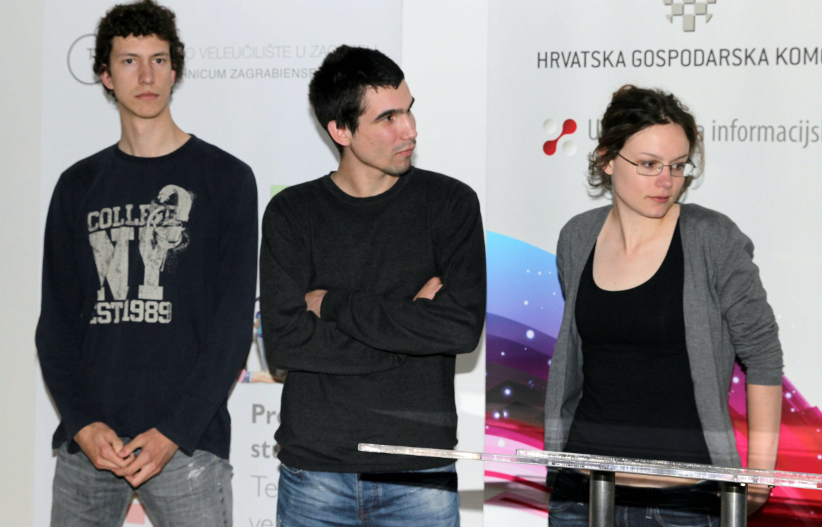 Pobjednički tim: Branimir Škarica, Mate Križanac i Magdalena Magličić