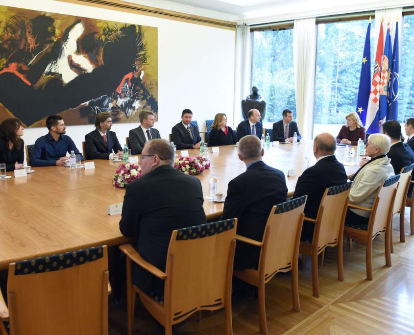 """Delegacija inicijative """"eSkills for Jobs"""" kod Predsjednice Republike Hrvatske"""