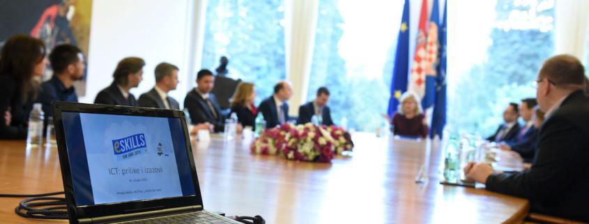 eSkills delegacija kod Predsjednice Republike Hrvatske