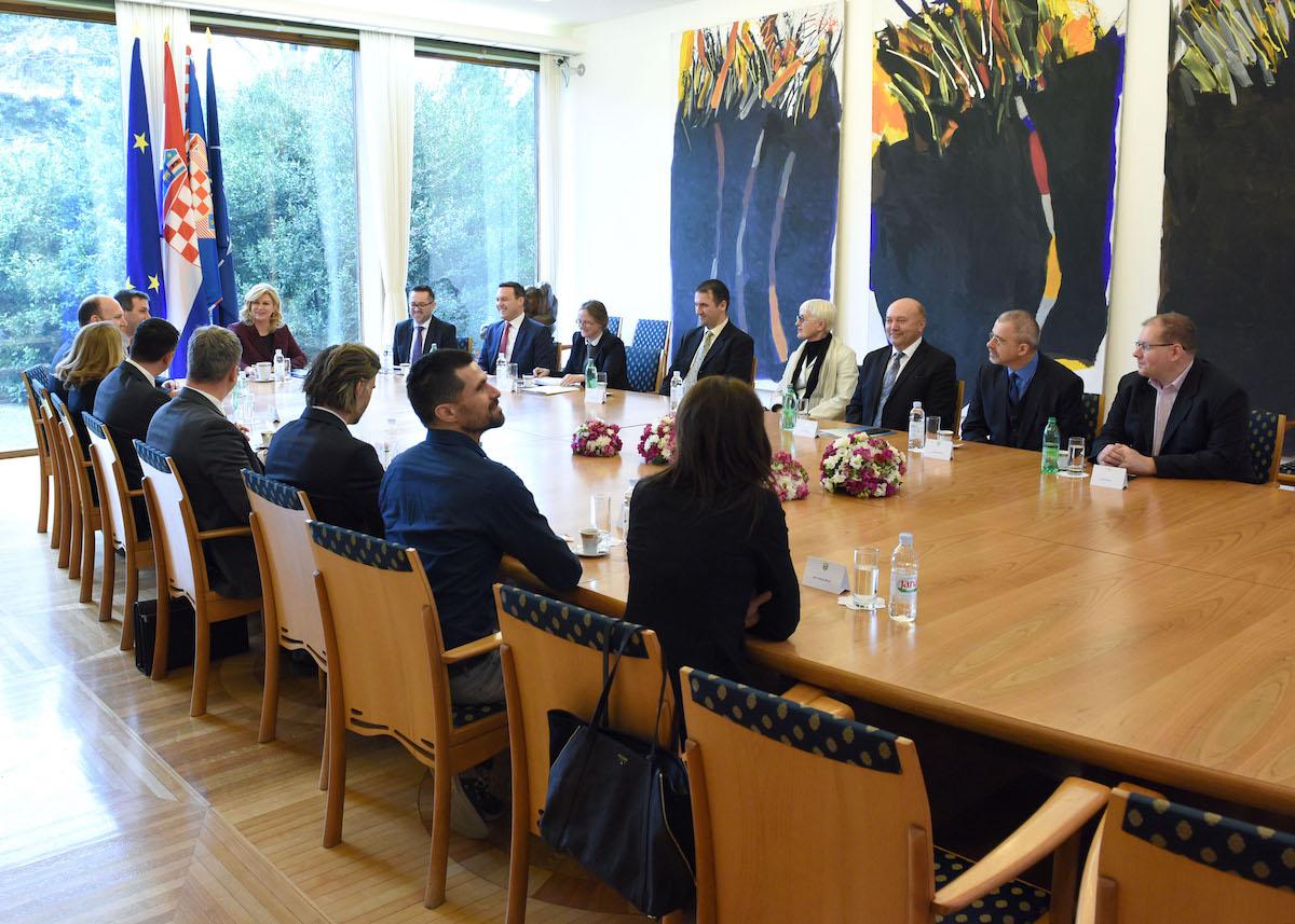 """Delegacije inicijative """"eSkills for Jobs"""" na jučerašnjem sastanku kod Predsjednice Republike Hrvatske"""