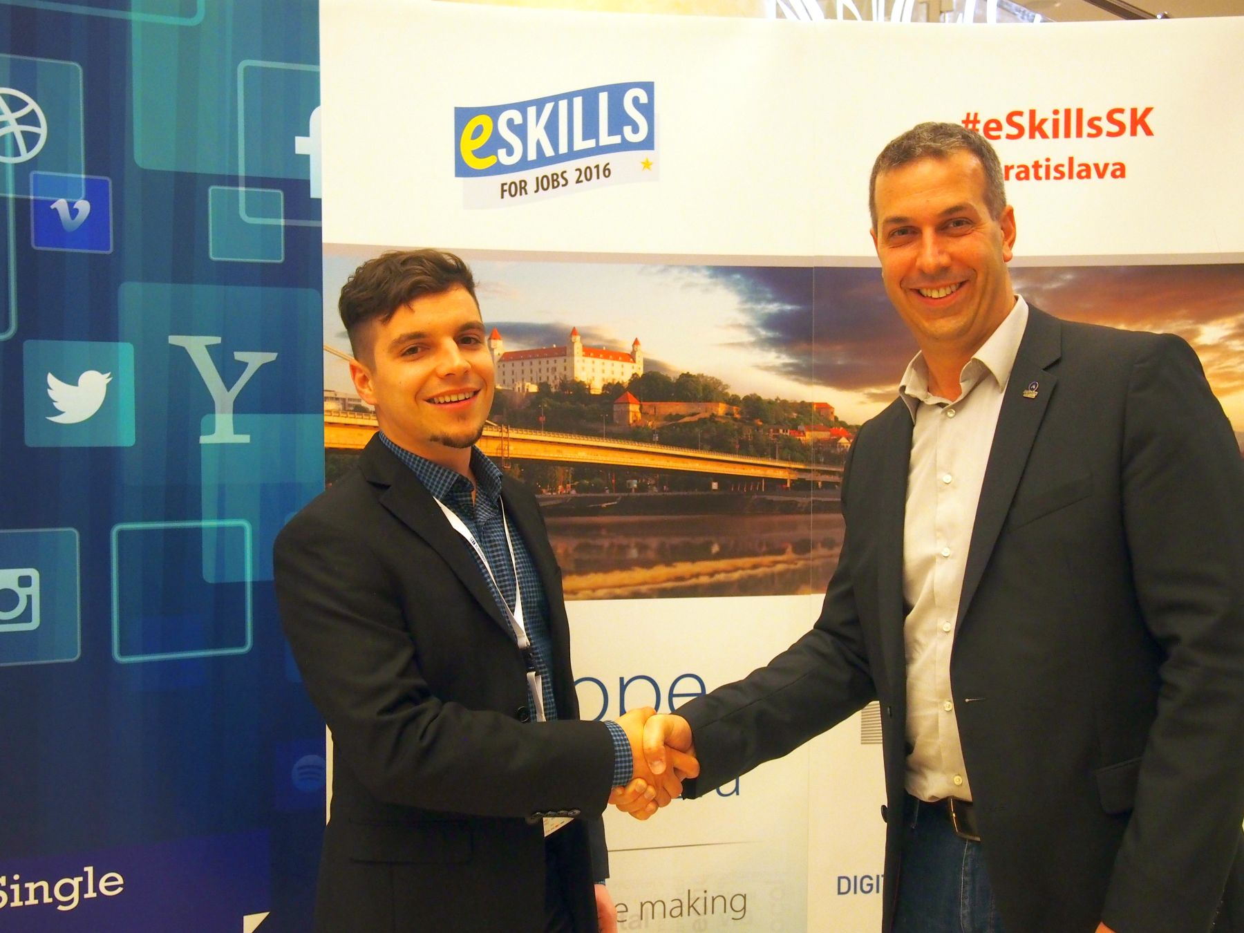 Mislav Sever i Hrvoje Balen, nacionalni koordinator inicijative eSkills for Jobs u Hrvatskoj